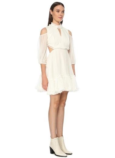 NetWork Kadın 1075560 Sırt Detaylı Mini Elbise Beyaz